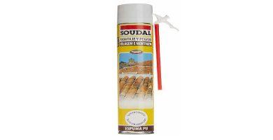 Espuma de poliuretano para tejas Soudal 750 ml barata baratas precio precios comprar